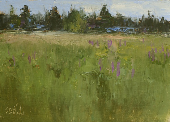 Lupin Meadow. 5x7, oil on linen panel. 2016