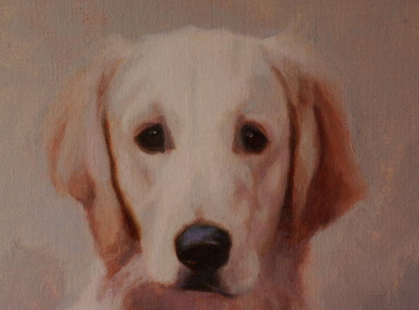 A close up of the painting of Max