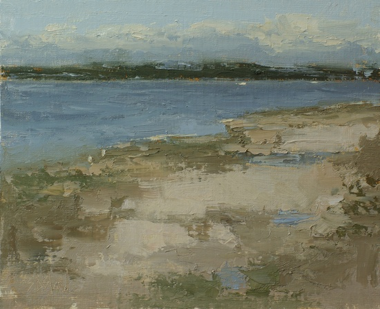 Olympic Peninsula (plein air). 8x10, oil on linen panel. 2016