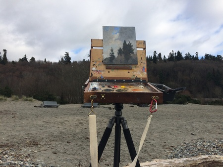 Plein air painting at Golden Gardens Park