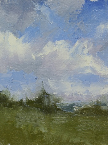 Study of the north sky - plein air