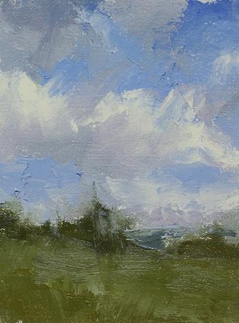 Study of the north sky - plein air