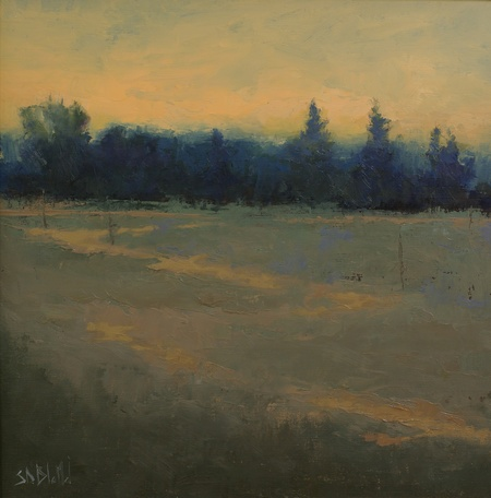Sunset over the Olympic Peninsula by artist Simon Bland