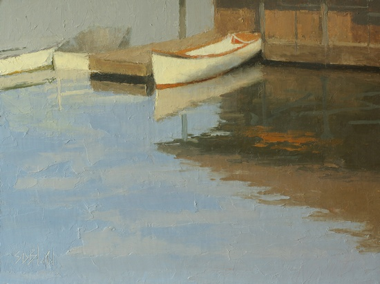 Wooden Boats (plein air). 9x12, oil on linen panel. 2016.