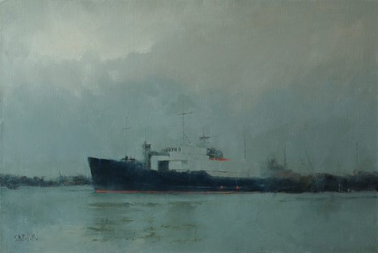 Painting of the fishing boat Blue Pacific