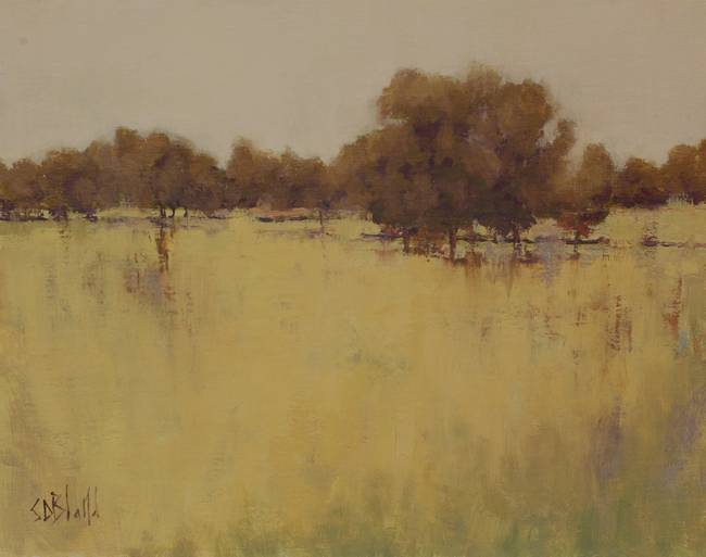 A landscape painting with little or no green