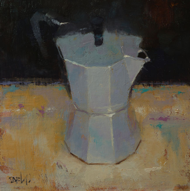 Still Life Painting of a Coffee Pot