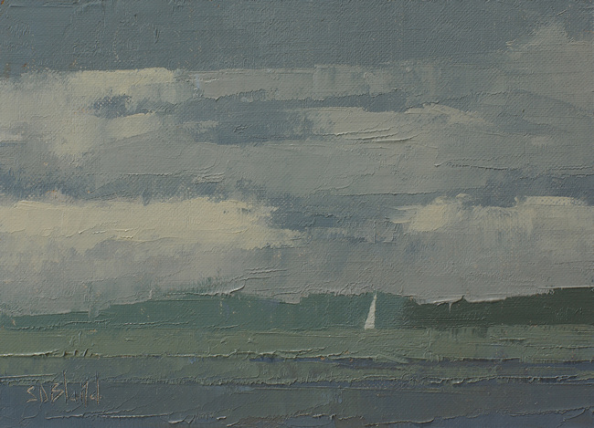 A painting of Puget Sound by artist Simon Bland