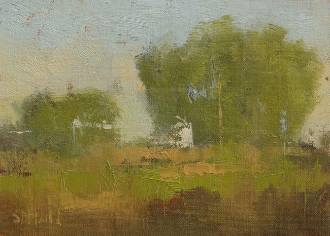 An abstract oil landscape.