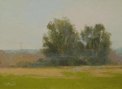 Painting of trees at Montcalm Farm