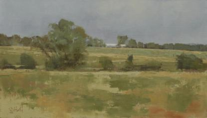 Oil painting of the Leicestershire countryside